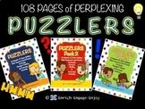 SUPER Puzzler Bundle!  108 pages of student brain builders