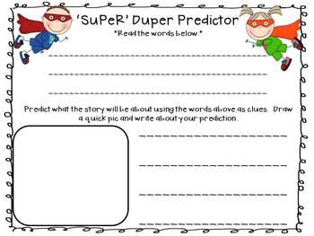 SUPER Reading Response Activities