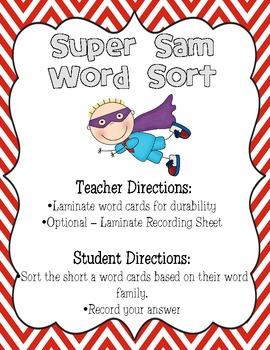 SUPER SAM! A Super Unit for Short A