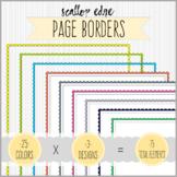 SUPER SET of Full Page Scallop Edge Borders Clipart