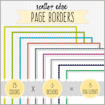 Full Page Scallop Edge Borders Clipart