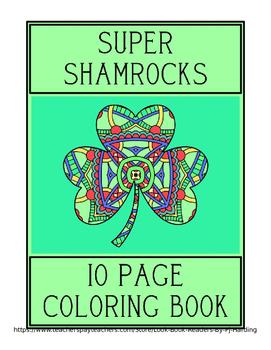 SUPER SHAMROCKS-10 PAGE COLORING BOOK