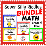 SUPER SILLY RIDDLES BUNDLE ...  Grade 4 MATH Worksheets ..