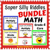 SUPER SILLY RIDDLES BUNDLE ...  Grade 4 MATH Worksheets $$