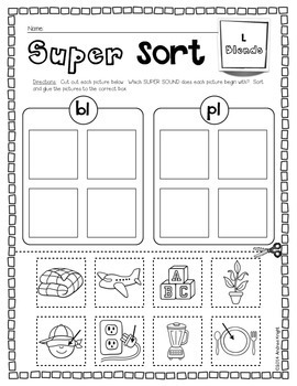 SUPER SOUNDS!  {Practicing Blends, Digraphs, Diphthongs, and Vowels}