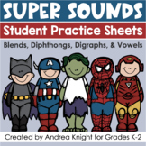 Phonics Activities for Blends, Digraphs, Diphthongs, and Vowels