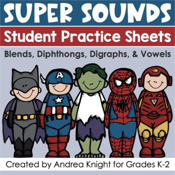 SUPER SOUNDS!  {Practicing Blends, Digraphs, Diphthongs, a