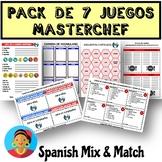 SUPER SPANISH MASTERCHEF GAME BUNDLE (food vocabulary comp