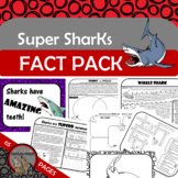 SUPER SHARKS Fact Pack w/ Reading Passages Informational T