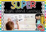SUPER Sight Word Centres: Set #1 LOOK, AT, THE, ME, AM, I