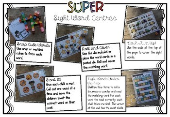 SUPER Sight Word Centres: Set #3 HERE, IS, BIG, LITTLE, COME, TO