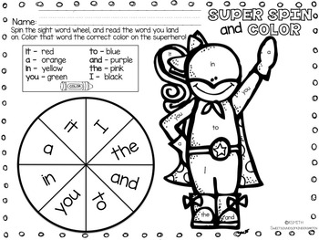 SUPER Sight Words- Volume 1!