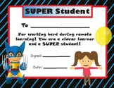 Remote Learning SUPER Student Award