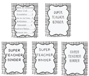 SUPER Teacher Organizational Binder