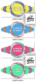 SUPER WORK colorful images