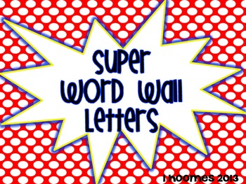 SUPER Word Wall Headers