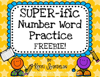 SUPER-ific Number Word Practice Pack FREEBIE!