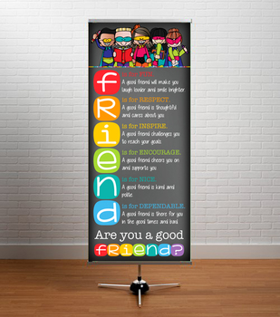 SUPER kids CHALKBOARD {Melonheadz} - Decor: LARGE BANNER, FRIEND - BOLD