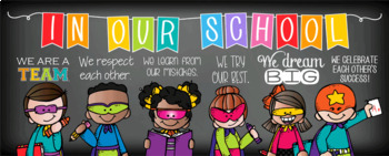 SUPER kids - Classroom Decor: LARGE BANNER, In Our School ...