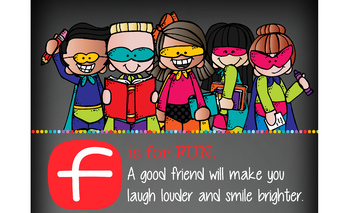 SUPER kids {Melonheadz} - Classroom Decor: LARGE BANNER, FRIEND - BOLD