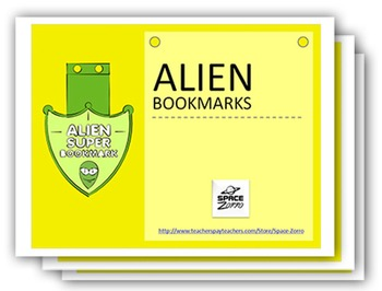 SUPERB ALIEN BOOKMARKS ( 5 Sheets with different styles )