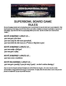 SUPERBOWL Board Game Rules