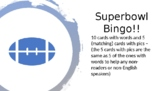 SUPERBOWL COMMERCIAL BINGO
