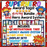 SUPERHERO AWARD TAG BUNDLE {170+ Pages} & CLASSROOM SUPERHERO SYSTEM. IT WORKS!