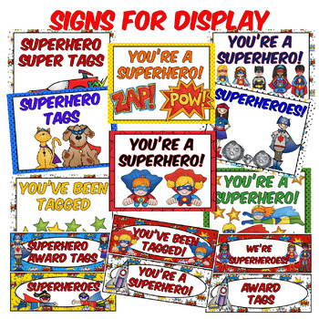 SUPERHERO AWARD TAG BUNDLE {170+ Pages} & CLASSROOM SUPERHERO SYSTEM. IT WORKS!
