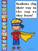 SUPERHERO Addition Clip Chart System