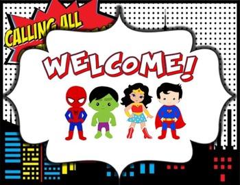 Superhero Open House/Parent Night Powerpoint