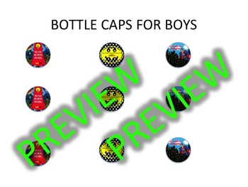 SUPERHERO BOTTLE CAPS