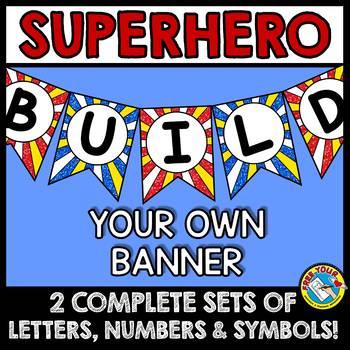 SUPERHERO BULLETIN BOARD BANNERS BUNDLE (SUPERHERO CLASSROOM DECOR BANNERS)