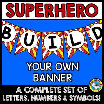 SUPERHERO BULLETIN BOARD BANNERS (SUPERHERO THEME CLASSROOM DECOR BANNERS)