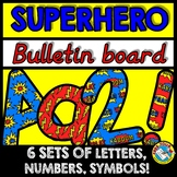 SUPERHERO BULLETIN BOARD LETTERS, NUMBERS AND SYMBOLS (SUP