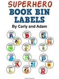 SUPERHERO Book Bin Labels