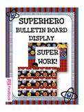 SUPERHERO Bulletin Board Set Display
