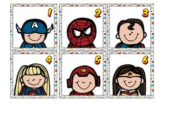 SUPERHERO CALENDAR CARDS
