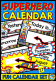 SUPERHERO THEME CALENDAR SET (CLASS DECOR)