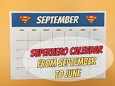 SUPERHERO CALENDARS