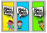 SUPERHERO CLASSROOM DECOR - Hall Passes - FREEBIE
