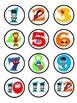 SUPERHERO Cubby/Hook Numbers