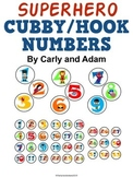 SUPERHERO Cubby/Hook Numbers