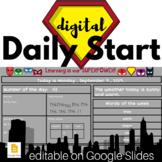 SUPERHERO Digital Daily Start - Morning Meeting, Calendar