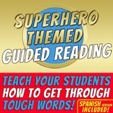 SUPERHERO THEMED - Guided Reading - 12 posters - Bilingual