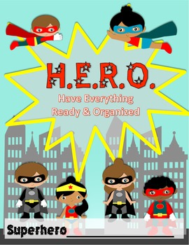 SUPERHERO H.E.R.O Binder Covers + Subject Area Binder Covers