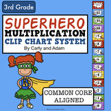 SUPERHERO MULTIPLICATION Clip Chart System