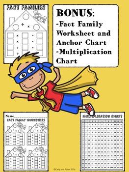 SUPERHERO MULTIPLICATION Clip Chart System