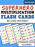 SUPERHERO Multiplication Flash Cards
