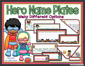 SUPERHERO NAME PLATE AND LABEL PACK BACK TO SCHOOL